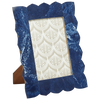 Blue Marbled Resin Frame
