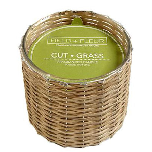 Cut Grass 2 Wick Handwoven Candle 12oz