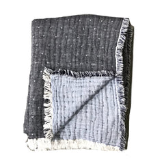 Charcoal & Heather Gray Reversible Throw