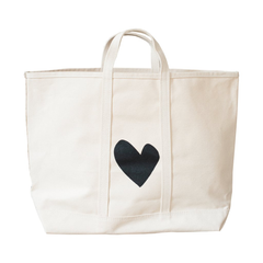 Black Heart Beach Bag Large