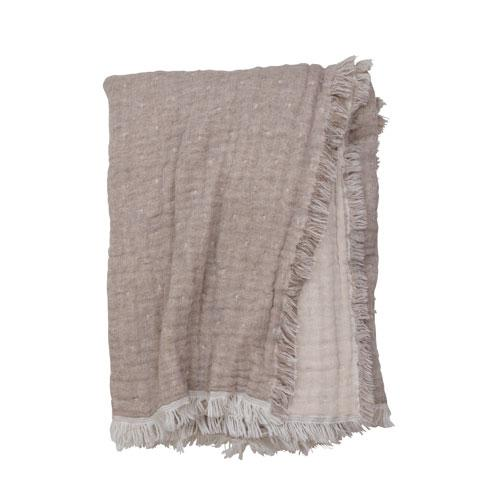 Taupe & Natural Reversible Throw