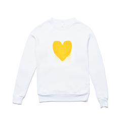 Drenched in Love Drippy Heart White Sweatshirt