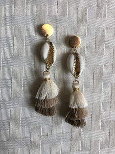 Circle Tassel Earrings Sand