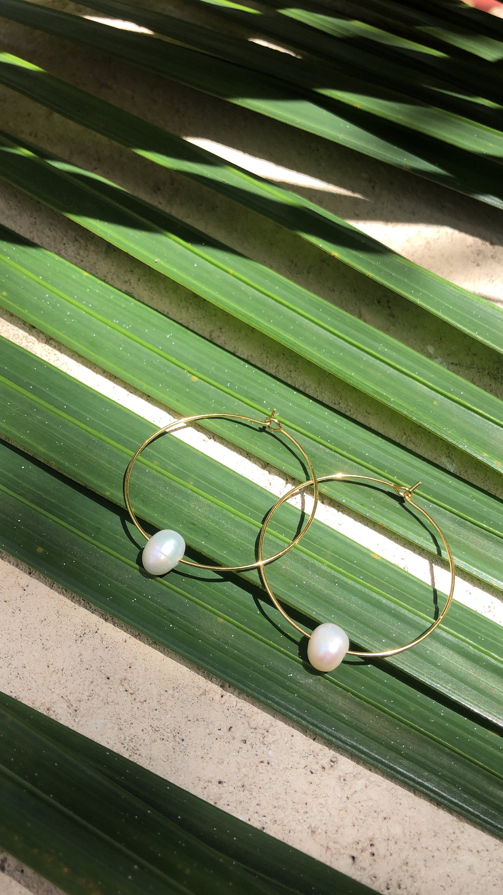 No Grit No Pearl Hoops