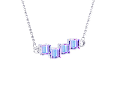 Preciosa Crystal Cubes Necklace