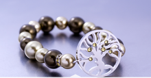 Load image into Gallery viewer, Preciosa Pearl Tree of Life Bracelet Olive