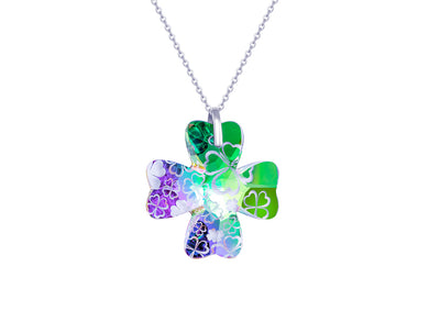 Preciosa Crystal Clover Necklace