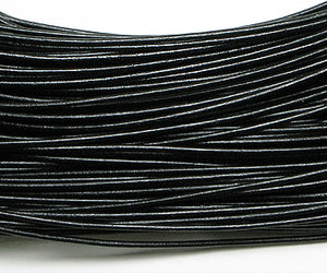 Greek Leather Cord Black 1.5mm - 10 meters coil