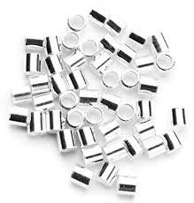 Sterling Silver Crimp Beads 2x2mm 100 piece bag