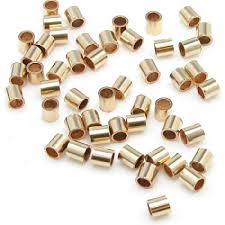 Gold Filled Crimp Beads 2x2mm 100 piece bag