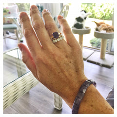 Amethyst Ring and Bracelet