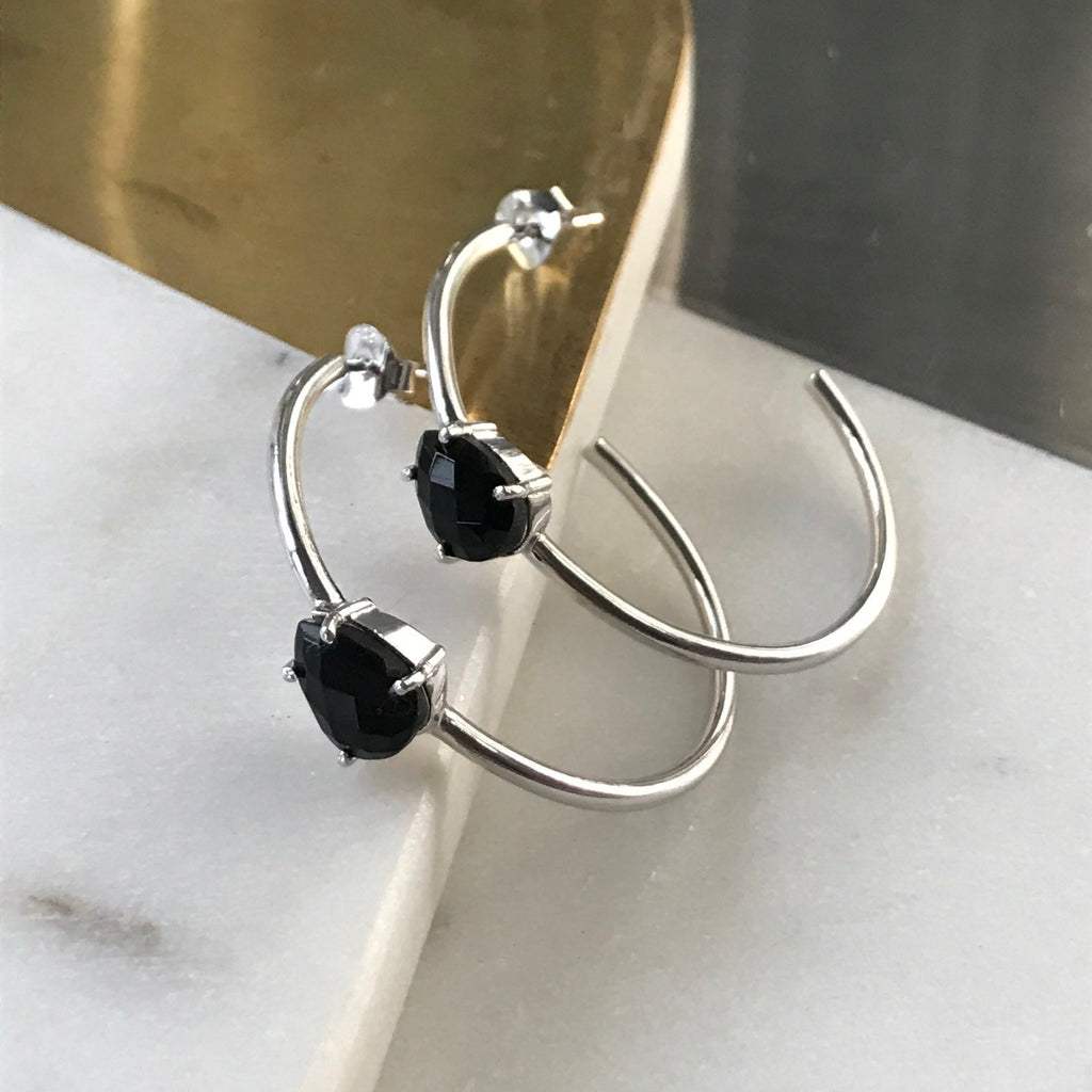 Chas Hoops in Sterling Silver