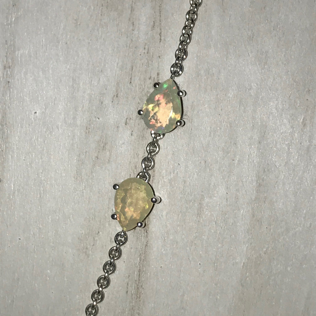Sam Necklace with Green Amethyst and Opal