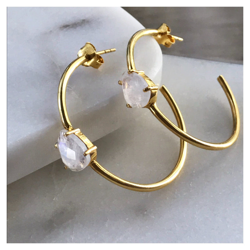 Chas Hoops in Gold Plate