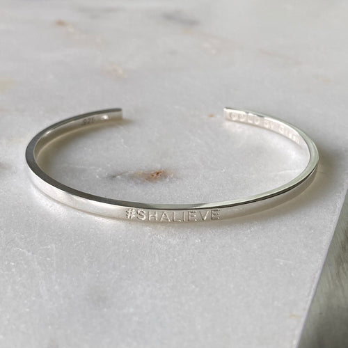 #shalieve Cuff Bracelet in Sterling Silver