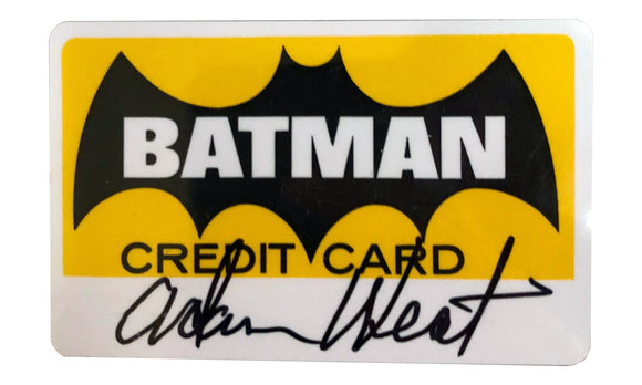 Batman Credit Card | Signed by Adam West
