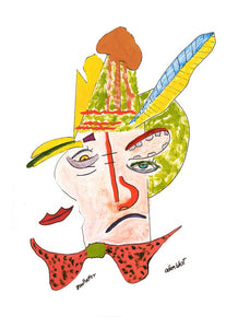 """Mad Hatter"" Adam West Original Artwork Print  