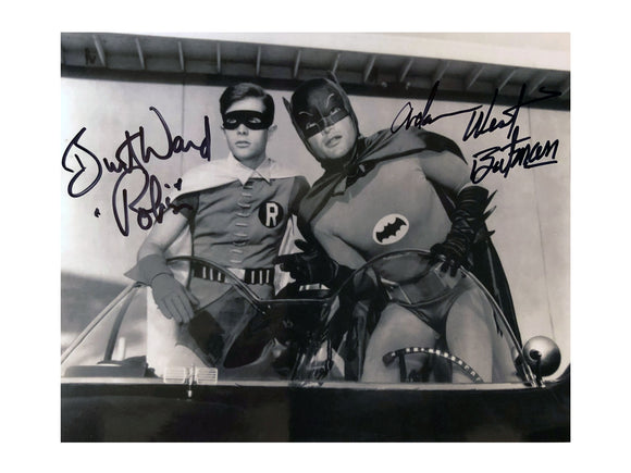 Batman & Robin in the Batboat | Double Autograph