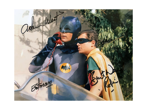 Batman & Robin on Phone 2 | Double Autograph