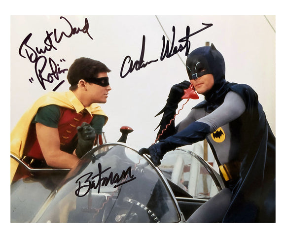 Batman & Robin on Phone | Double Autograph