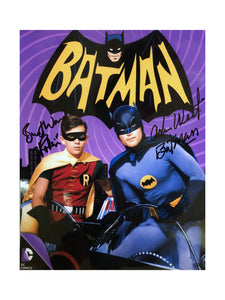 Batman & Robin Purple Swirl | Double Autograph