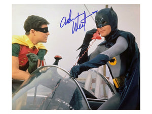 Batman & Robin on Phone | Signed by Adam West