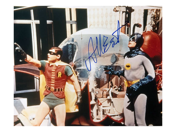 Batman & Robin with Batcopter | Signed by Adam West
