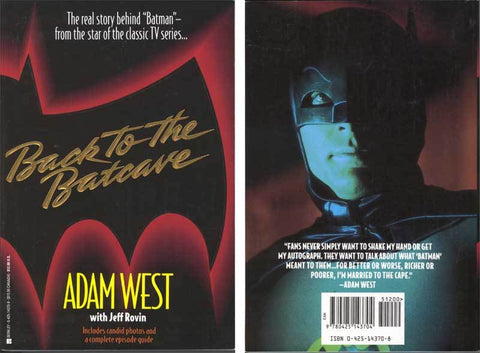 """Back to the Batcave"" Adam West autobiography *Unsigned"