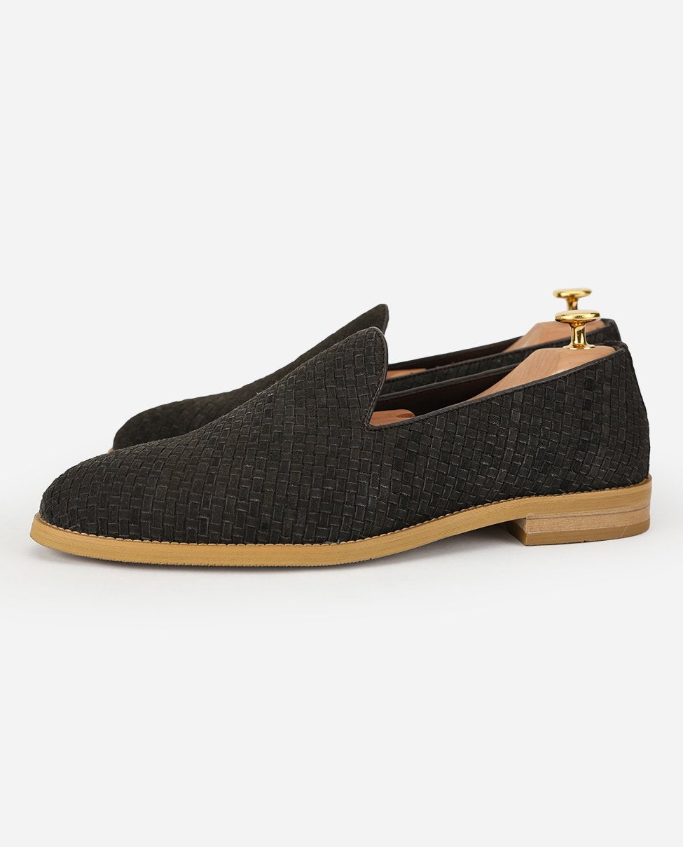 Dyke - Charcoal Suede