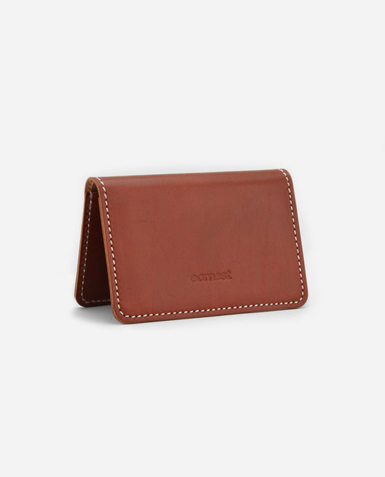 Crawford Leather Cardholder - Rust