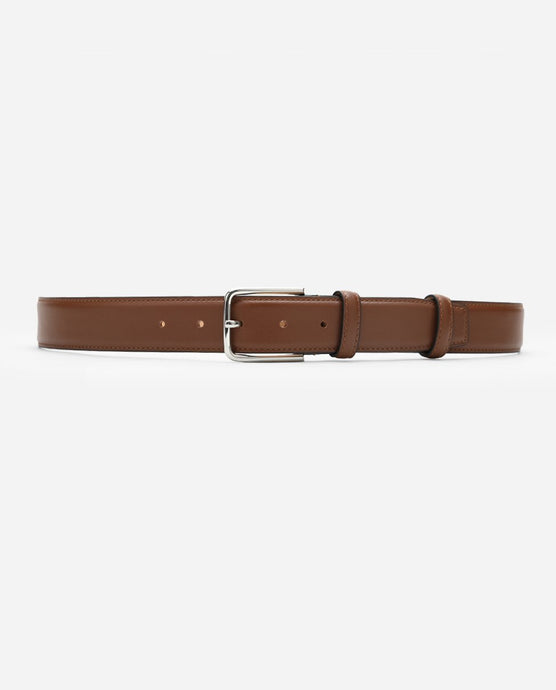 Calf Leather Belt - Saddle Brown