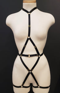 HONEY HARNESS FULL BODY - BLACK Sexy Harness Strappy BodyHarness Lingerie ADARABYCAROLB Intimates