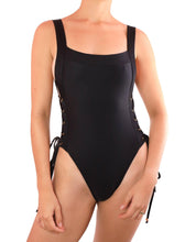 Load image into Gallery viewer, IRELAND ONE PIECE SWIMSUIT One Piece Sexy Bathingsuit SexyCut ADARABYCAROLB Swimwear SMALL BLACK