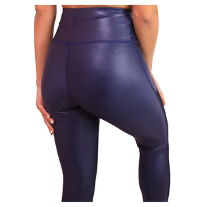 LEATHER EFFECT LEGGING Sportswear Leggings Yoga Pants ADARABYCAROLB Activewear Blue Medium