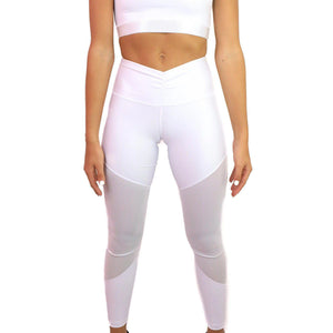 LEATHER EFFECT LEGGING Sportswear Leggings Yoga Pants ADARABYCAROLB Activewear White Small