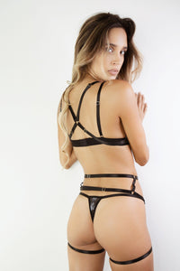 LOVELY HARNESS SET - BLACK Sexy Harness Strappy BodyHarness Lingerie ADARABYCAROLB Intimates