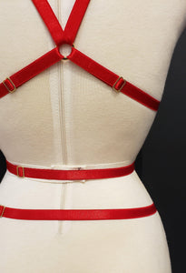 LOVELY HARNESS SET - RED Sexy Harness Strappy BodyHarness Lingerie ADARABYCAROLB Intimates