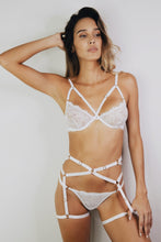 Load image into Gallery viewer, LOVELY HARNESS SET - WHITE Sexy Harness Strappy BodyHarness Lingerie ADARABYCAROLB Intimates