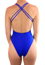 Load image into Gallery viewer, MALIBU ONE PIECE SWIMSUIT One Piece Sexy Bathingsuit SexyCut ADARABYCAROLB Swimwear Blue Large