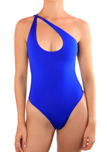 Load image into Gallery viewer, MALIBU ONE PIECE SWIMSUIT One Piece Sexy Bathingsuit SexyCut ADARABYCAROLB Swimwear Blue Small