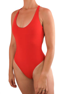 MALIBU ONE PIECE SWIMSUIT One Piece Sexy Bathingsuit SexyCut ADARABYCAROLB Swimwear Red Small
