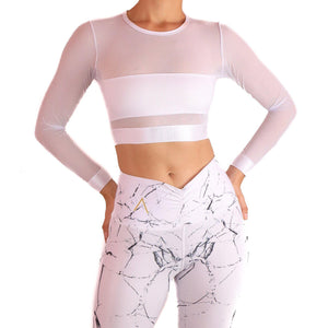 PANTHER SPORT CROP TOP Sportswear Leggings Yoga Pants ADARABYCAROLB Activewear One Size White