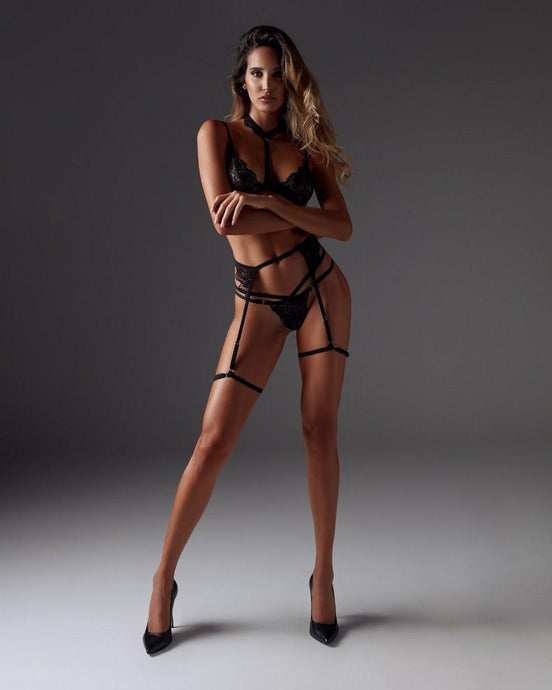 TIFANNY HARNESS - BLACK Sexy Harness Strappy BodyHarness Lingerie ADARABYCAROLB Intimates