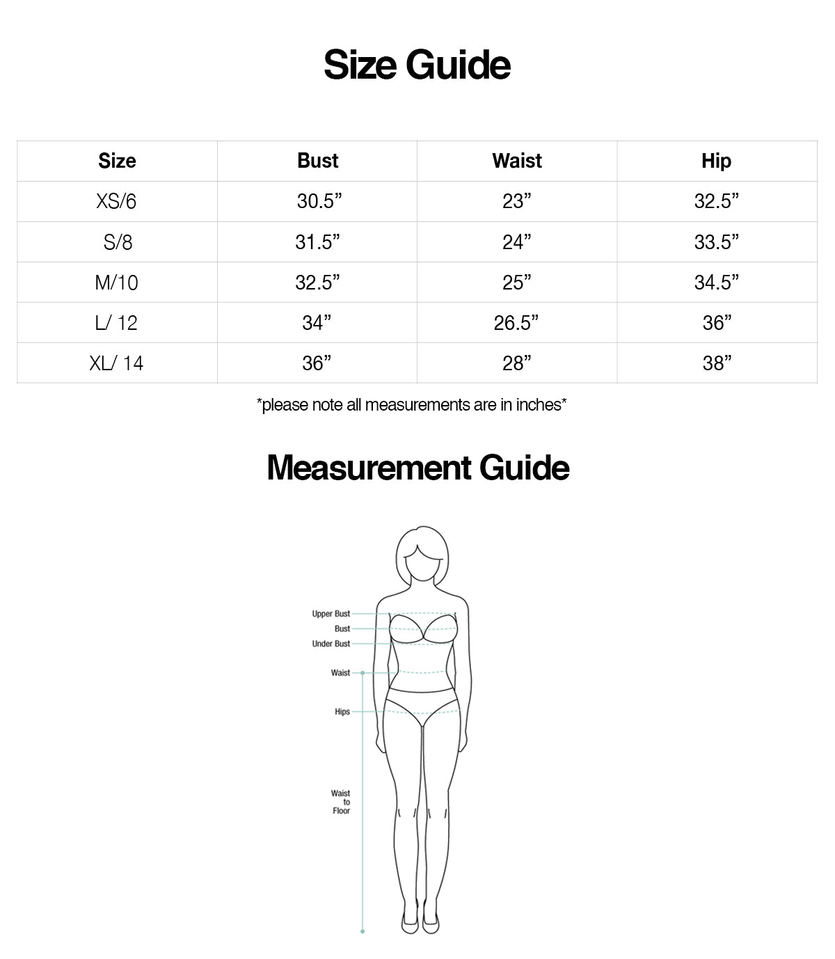 AHNIKO Size & Measurement Guide