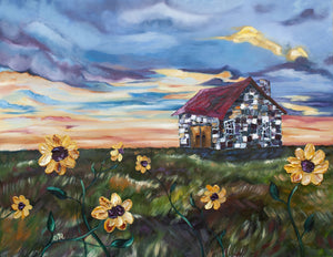"Original Cottage Painting titled ""The Long Way Home"""