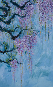 Wisteria Vine Painting Canvas Print
