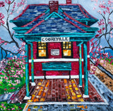 """Cookeville Depot Museum in Spring"" 16x16"