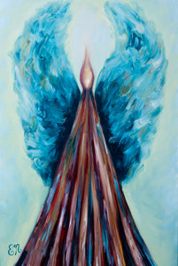 """Blue Flame"" 24x36 Oil Painting"