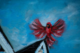 Hymningbird 24x36 Original Oil Painting