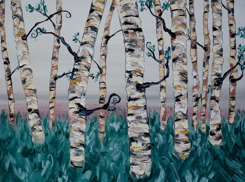 "Original oil painting titled ""The Freedom Forest"" 30"